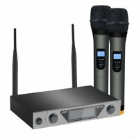 ARCHEER UHF Wireless LCD Display Microphone System + Dual Handheld Mic   a1z