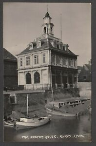 Postcard King's Lynn Norfolk early view of The Customs House RP by Jewsons