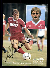 Thomas Brunner AUTOGRAFO carta 1 FC Norimberga 1982-83 original sign + a 161580
