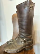 Vintage 1940's Horsehide Engineer Boots Size 9-9 1/2 Motorcycle Boots