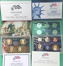 2007 US Mint Proof Set ~ 14 Coins  Blue boxes Rare