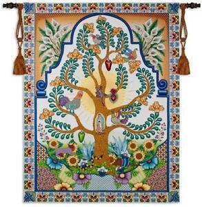 68x52 Latin TREE OF LIFE Floral Hispanic Spanish Tapestry Wall Hanging