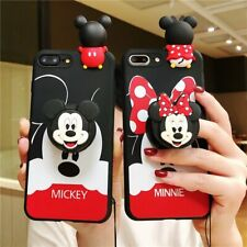 3D Disney Mickey Minnie Soft Case Cover For Samsung Galaxy S8 S9 Plus S10 Lite