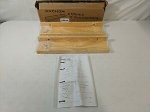 """CRCHOM 2-Pack Floating Shelves Wall Mounted Solid Wood 17"""" Length Ledge Display"""