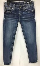 MISS ME Signature ANKLE SKINNY Low Rise Stretch Jeans Sz 26 W 27 x L 25 Blue