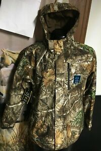 NWT new REALTREE EDGE Scent Control Tricot Hooded Waterproof JACKET Mens L Large