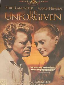 The Unforgiven Burt Lancaster Audrey Hepburn DVD  Like New