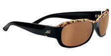 POLARIZED SERENGETI CHLOE Brown Cork to Black Driver Gold Mirror Sunglasses 7749