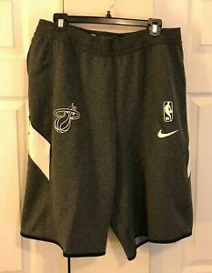 Nike Miami Heat NBA Basketball Dri-Fit Shorts Men XL Tall AV1087-032 Grey New