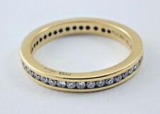 18 carat YELLOW GOLD DIAMOND FULL ETERNITY RING 2.4 GRAMS 0.42 CARATS SIZE I 1/2