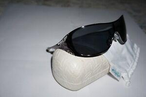 Oakley Liv Women Sunglasses Black Chrome Grey Polarized Iridium 12-978