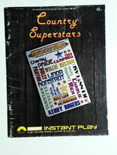 Country Superstars Easy Instant Plan For Organ, Piano Guitar. 1980
