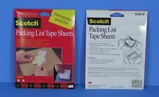 """* 100 3M Scotch 5""""x6"""" Peel-n-Stick Clear Packing List Tape Sheets 8240-P New *"""