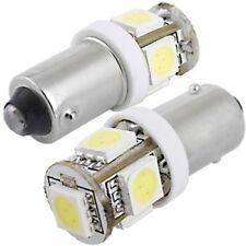 2x  BA9S 5050 SMD 5 LED 12V  501 Bright Xenon White Car Sidelight Bulb
