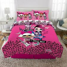 Kids Bedding Bed in a Bag Set Pink Full Size Machine Washable Polyester New