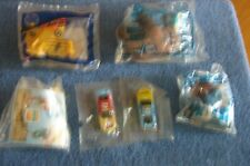 4 Fast Food Kid's Toys and 2 Cereal Box Cars