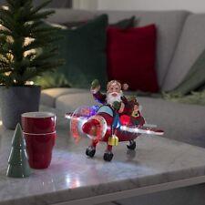 Konstsmide Santa Aeroplane With LED Christmas Message Propellor : Sound Sensor