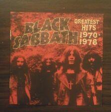 Black Sabbath Greatest Hits 1970-1978 Remastered 2006 Paranoid Sweet Leaf N.I.B.