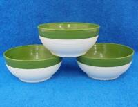 Vintage Green Raffiaware 3 Bowls By Thermo-temp