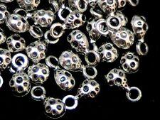 40 Pcs -  9mm Tibetan Silver Moon Drop Charms Craft Dainty Jewellery Beads A169