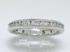 Diamant Brillant Memory Ring 750 Weißgold 18Kt Gold 0,55ct  G Si   Eternity