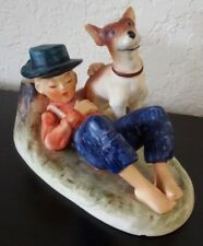 VGT GOEBEL Hummel BOY & DOG Norman Rockwell #202 TMK 4 BOYHOOD DREAMS FIGURINE
