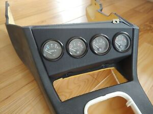 BMW E30 VDO Guages Center Console LHD RHD 3x52 4x52 Leather wrapped CUST REPLICA