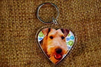 Airedale Terrier Gift Keyring Dog Key Ring heart Birthday Gift Mothers Day Gift