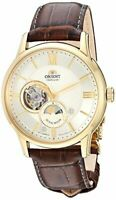 Orient Men's Sun and Moon Open Heart Japanese Automatic Brown RA-AS0004S10A
