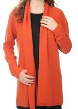 Balldiri 100% Cashmere Kaschmir Damen Strickjacke feminin 2-fädig orange M