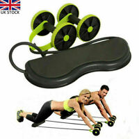 Abs Roller Wheel Core Exercise Strength Trainer Abdominal Fitness Slim Pack of 2