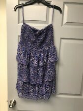 American Eagle Strapless Tiered Ruched Elastic Top Dress Size M