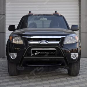 FORD RANGER STAINLESS STEEL BLACK AXLE NUDGE A-BAR BULL BAR GUARD 2006-2011 W K