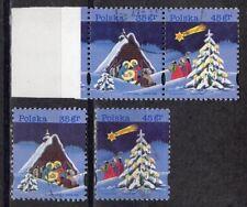 PL Polen 1995 Mi.-Nr. 3565 - 3566  Weihnachten gestempelt o (Paar und Einzelw.)