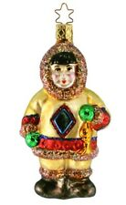 Inge Glas Eskimo Igloo Bound 1-007-03 German Glass Christmas Ornament