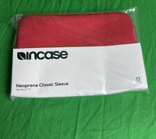 """Incase Designs Neoprene Sleeve - Notebook 13"""" RED for Apple MacBook Air (13.3"""