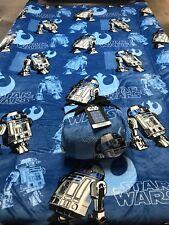 Star Wars R2D2 Blanket Plush Queen/ Full New