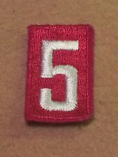 BSA RED TROOP UNIT NUMBER 5 - FULLY EMBROIDERED VERTICAL 1960's~1992 B00155A