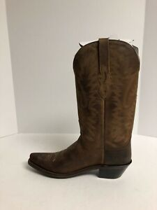Old West Womens Western Cowboy Boot Brown Size 7.5 M