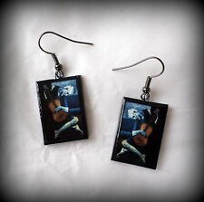 The Old Guitarist Pablo Picasso Earrings Handmade Polymer Clay NEW!