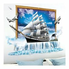 3D Wandtattoo Segelschiff 3 D Wandsticker Sticker Wandbild Kinderzimmer