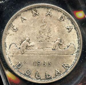 1935 Canada Silver Dollar - Rev 003 -  ICCS MS-64 Cert# OE 154