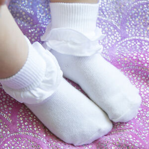 Jefferies Socks Girls Misty Ruffle Lace Tutu Cotton School Turn Cuff Socks 2 PK
