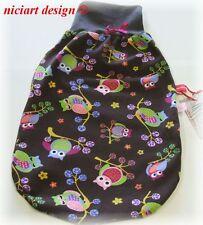 Niciart ♥ nuevo pucksack ♥ bebé saco de dormir ♥ lechuzas ♥ BW Jersey & Molton o jersey ♥