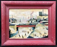 1960s Manchester Factories Oil Painting -- Laurence Stephen LOWRY 1887 - 1976