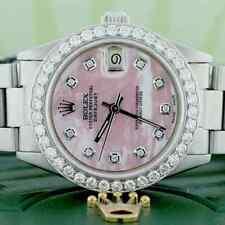 Rolex Datejust Midsize 31mm Womens Oyster w/Pink MOP Diamond Dial & 1.52Ct Bezel