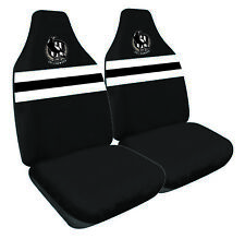 COLLINGWOOD MAGPIES Official AFL Seat Covers Airbag Compatible *NEW 2018 Design*