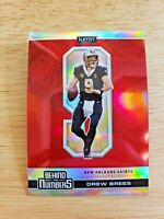 Drew Brees - (Red PRIZM) - Behind The Numbers - 2020 Panini Playoff NFL Saints