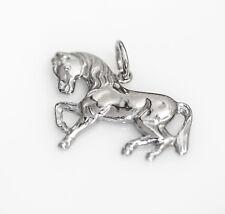 Echt 925 Sterling Silber Anhänger Pferd Schmuck Geschenk, rhodiniert