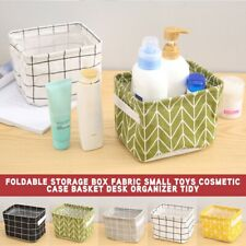 Tidy Foldable Storage Box Fabric Small Toys Cosmetic Case Basket Desk Organizer